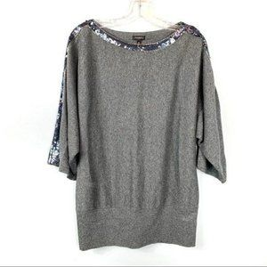 Talbots Grey Sequin Sweater Size M
